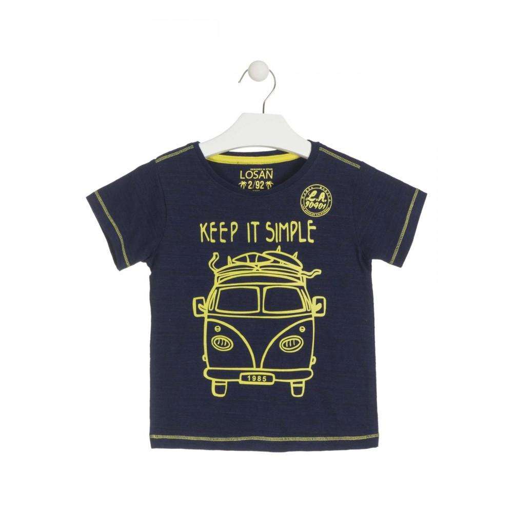 Camiseta Losan Kids niño infantil Keep it simple manga corta