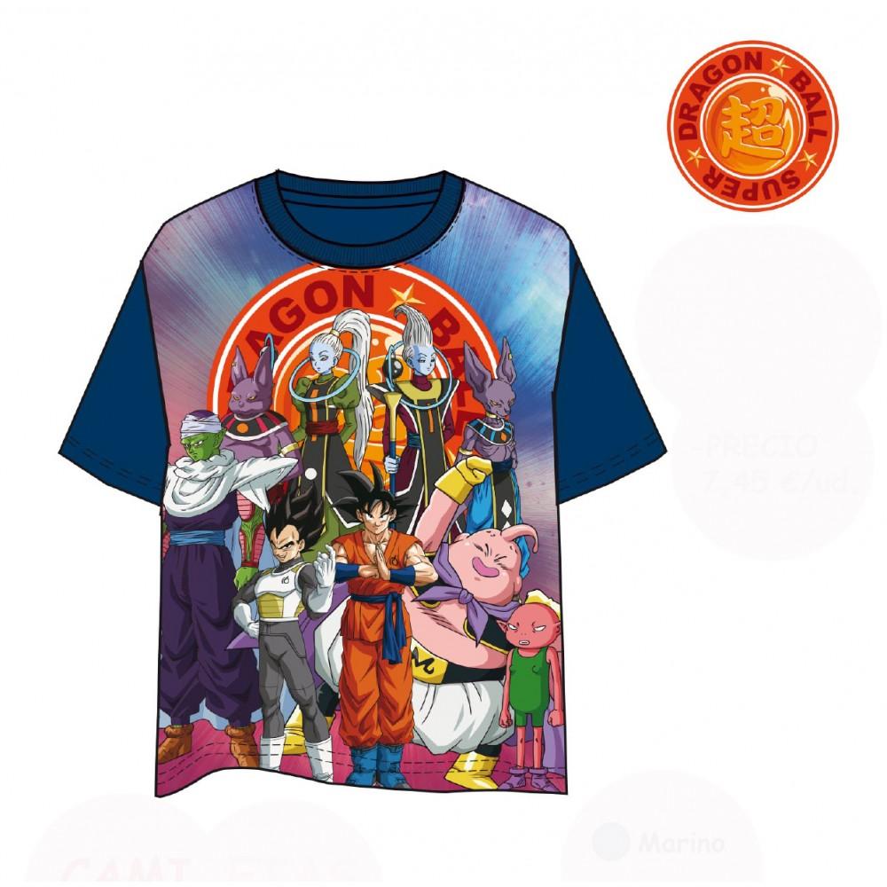 Camiseta Drangon Ball Majin Boo Picolo Vegeta Goku Zamasu manga corta
