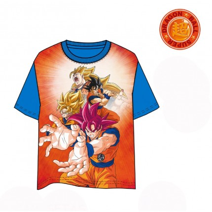 Camiseta Dragon Ball Goku Super Saiyajin manga corta