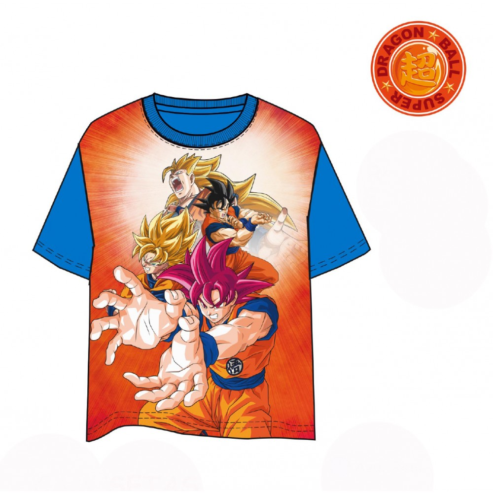Camiseta Dragon Ball Goku Super Saiyajin manga corta