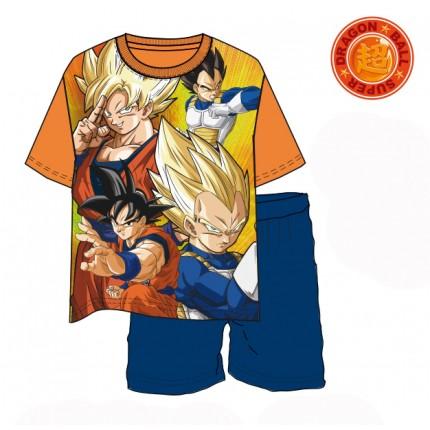 Pijama Dragon Ball Z Goku Vegeta niño manga corta