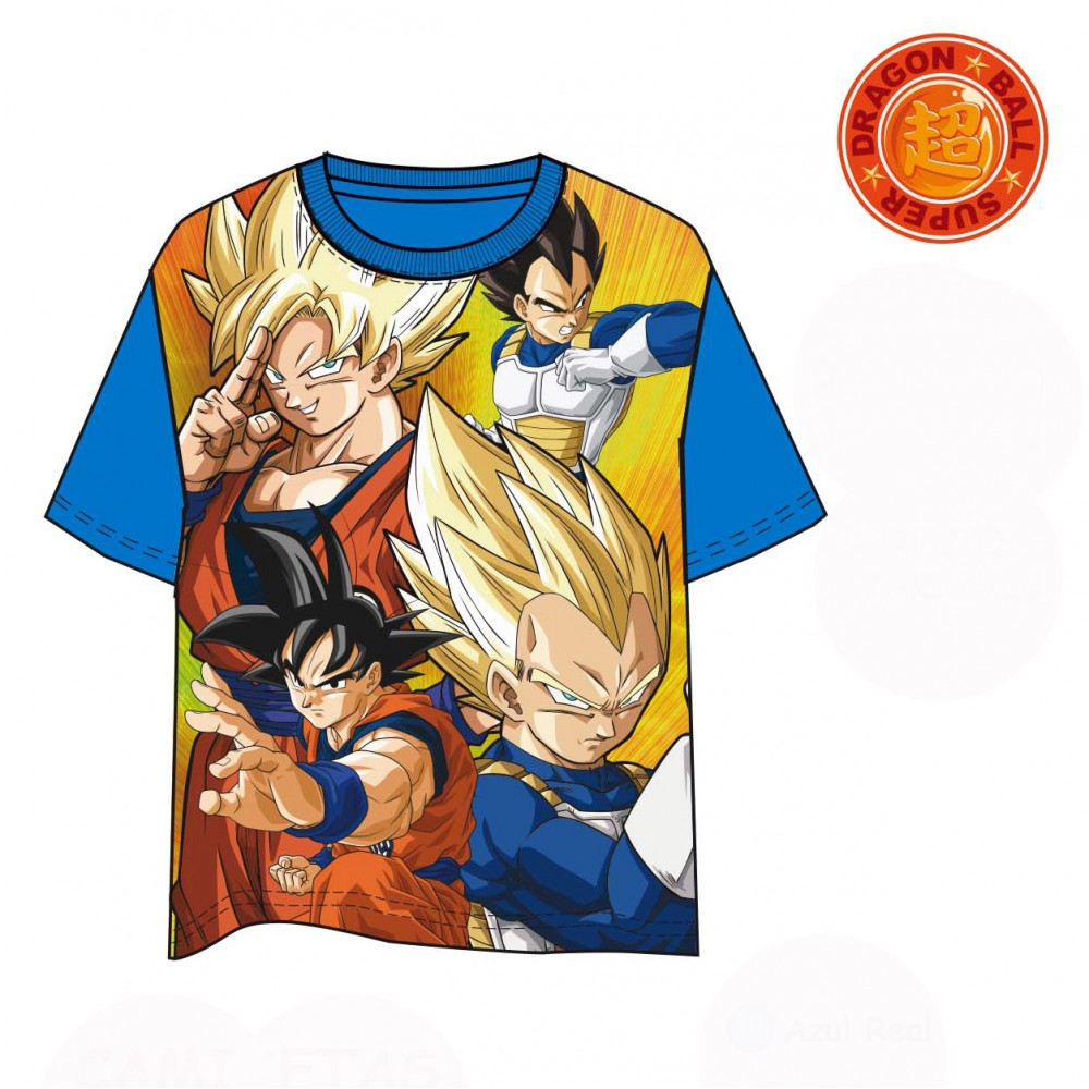 Camiseta Dragon Ball Super Guerreros niño manga corta