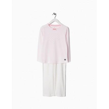 Pijama Zippy niña Corazones manga larga