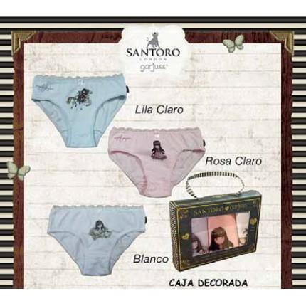 Pack de 3 Braguitas GORJUSS 100% Algodón Santoro