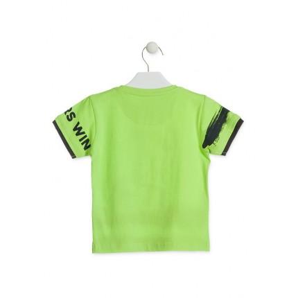 Espalda Camiseta Losan Kids niño infantil Go Let's Play it manga corta 100% Algodón