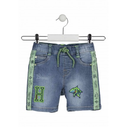 Bermuda Denim Losan Kids niño Shark Beach cordón