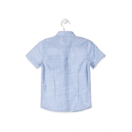 Espalda Camisa Losan Kids niño manga corta 100% Algodón