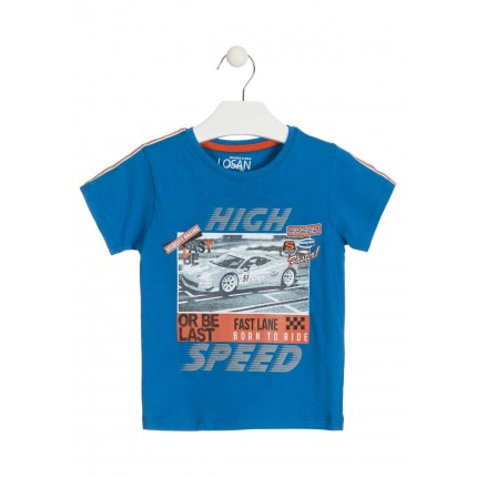 Camiseta Losan Kids niño High Speed infantil manga corta