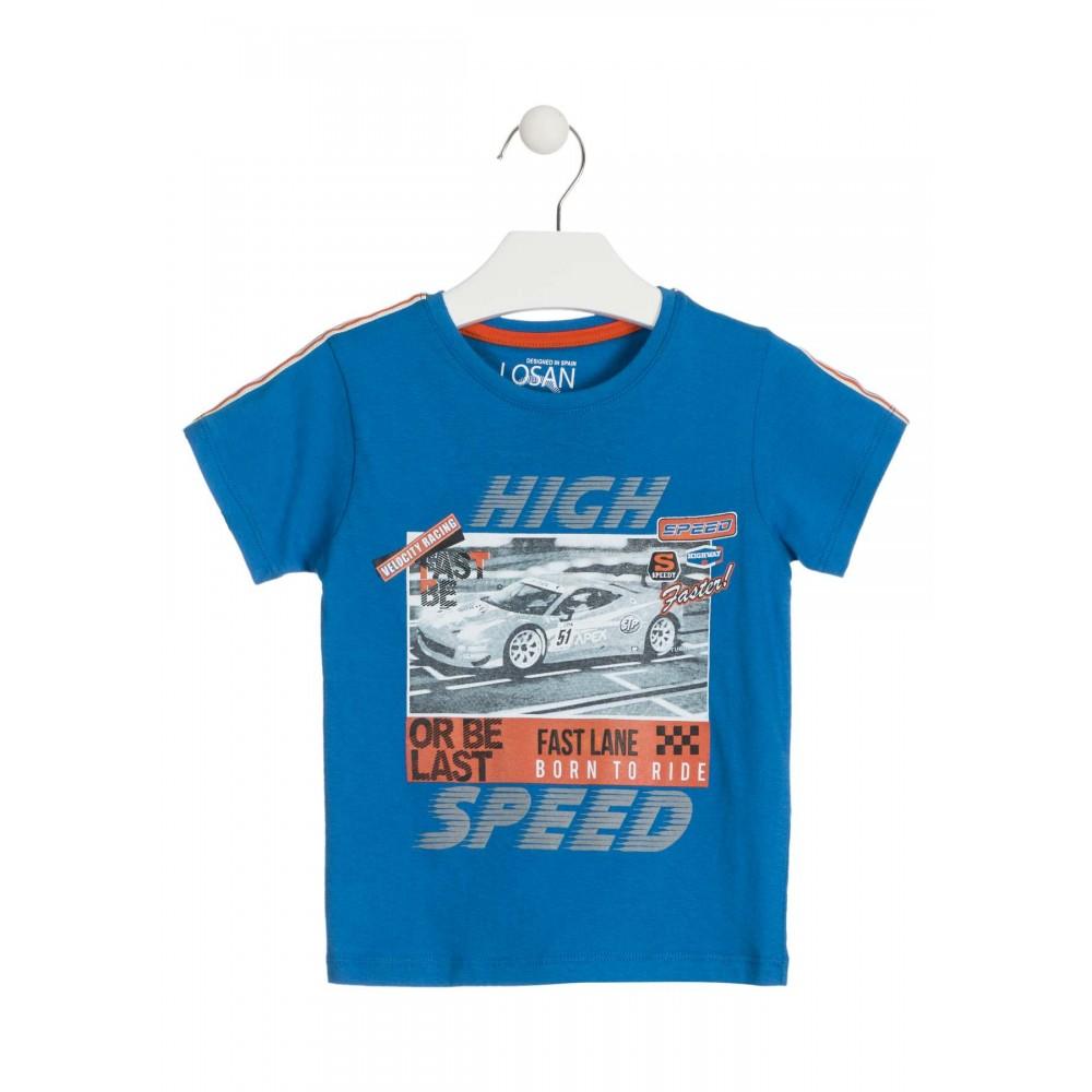 Camiseta Losan Kids niño High Speed infantil manga corta