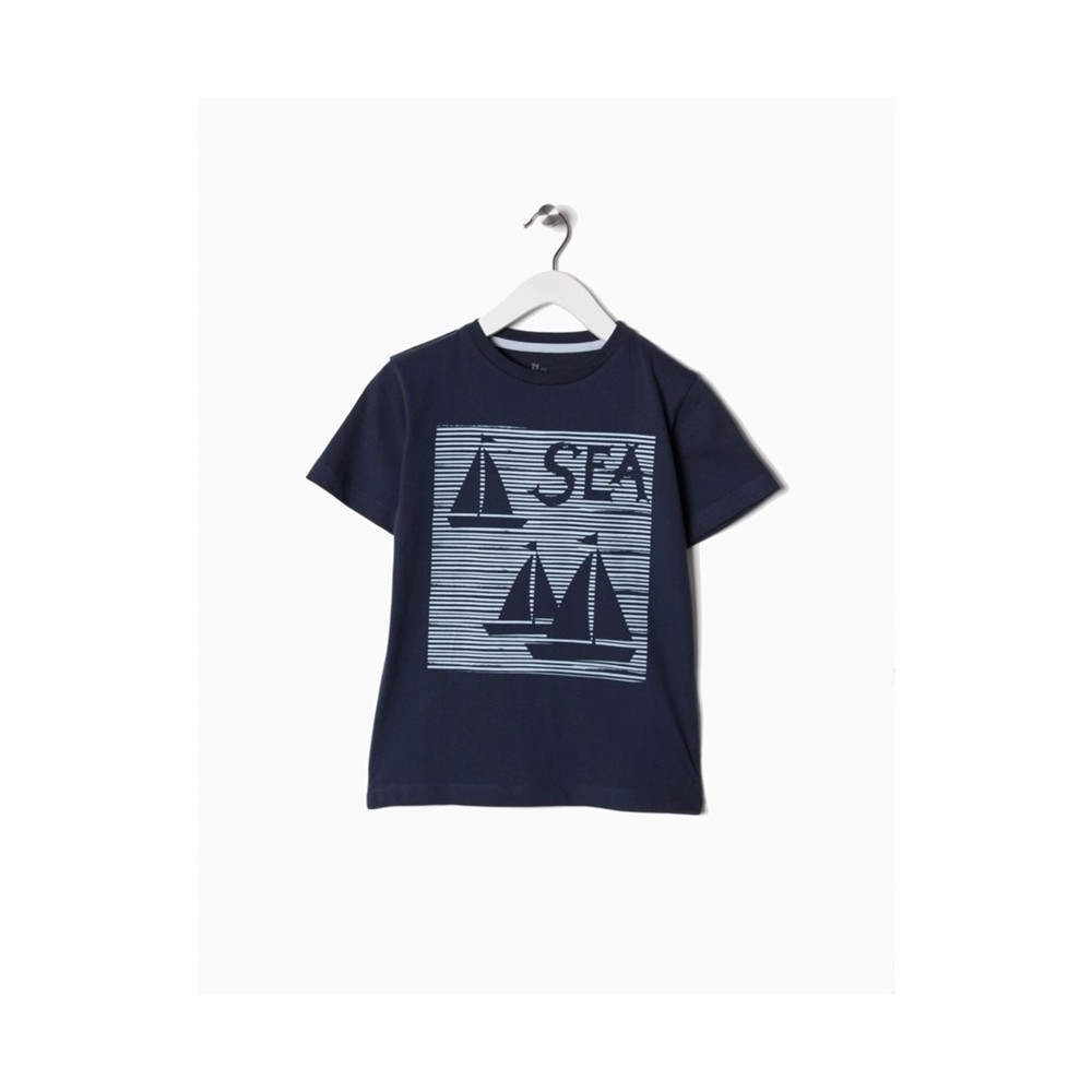 Camiseta Zippy niño Sea manga corta