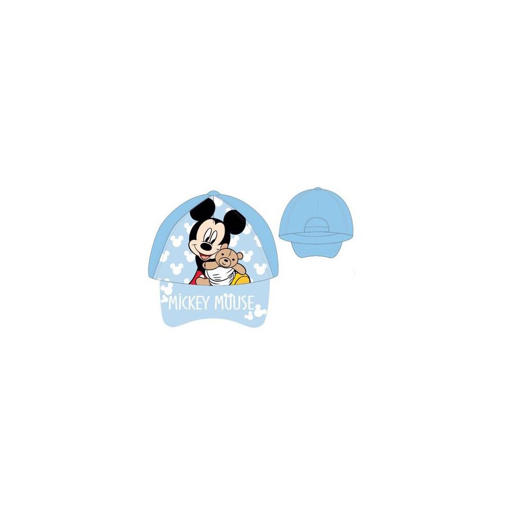 Gorra Mickey bebe niño Disney belcro regulable celeste