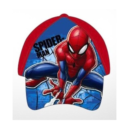 Gorra Spider-man Marvel niño infantil belcro regulable roja