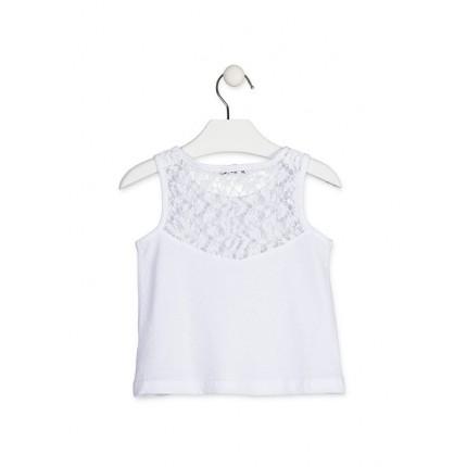 Espalda Camiseta Losan Kids niña infantil Corazones