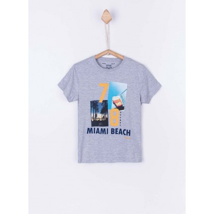 Camiseta Tiffosi Kids Dude niño junior manga corta Miami Beach