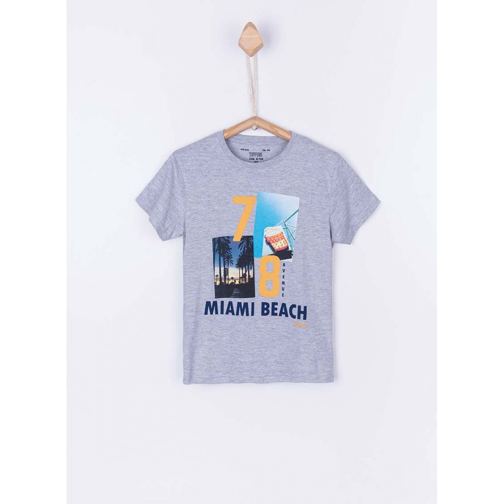 Camiseta Tiffosi Kids Dude niño junior manga corta Miami Beach