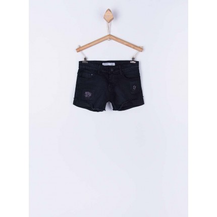 Short Denim Tiffosi Kids Chloe 100 negro