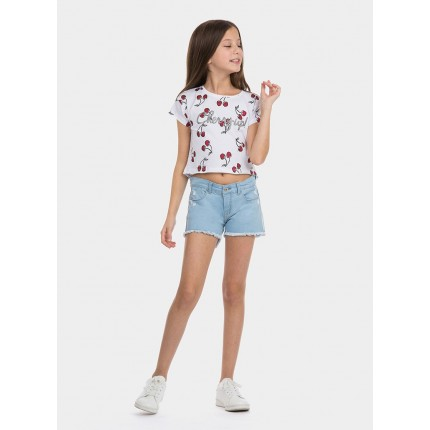 Modelo frontal Short Denim Tiffosi Kids Chloe 95 niña junior