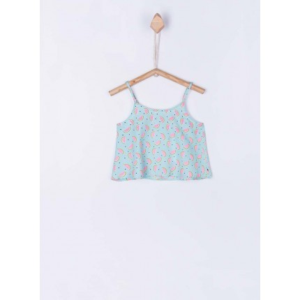 Top Tiffosi Kids niña Jasmine junior tirantes azul pastel sandias