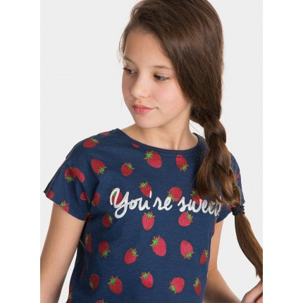Modelo Camiseta Tiffosi Kids Mint niña junior manga corta