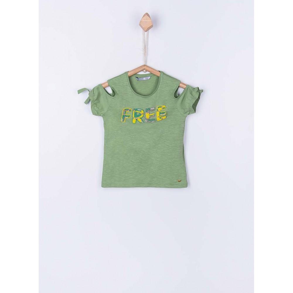 Camiseta Tiffosi Kids Hollo niña junior manga corta hombros descubiertos