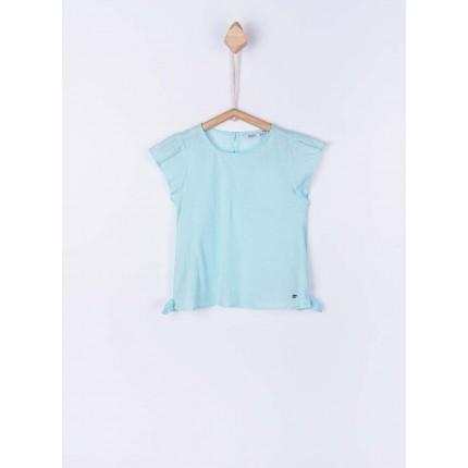 Camiseta Tiffosi Sadie niña junior manga corta Azul pastel