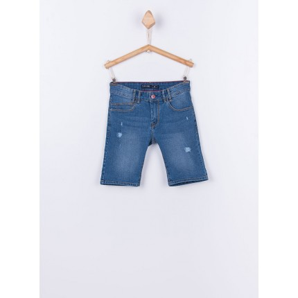Bermuda Jeans Tiffosi Kids Joe 30 niño junior rotos Slim Fit