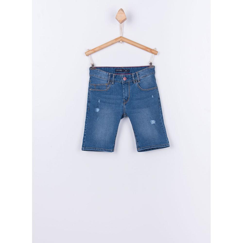 Bermuda Jeans Tiffosi Kids Joe 30 niño junior rotos Slim Fit