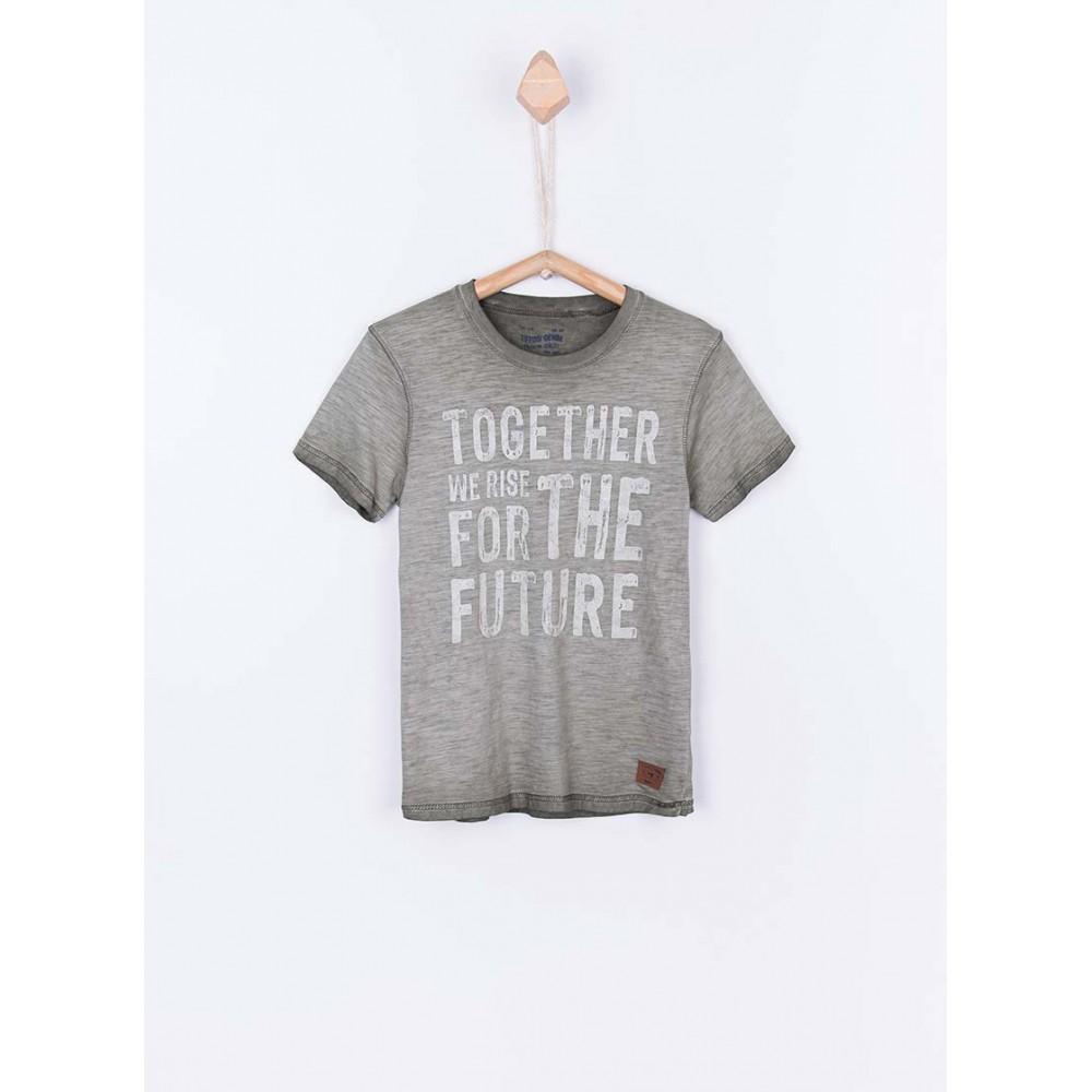 Camiseta Tiffosi Kids Roddy niño junior manga corta 100% Algodón lavada