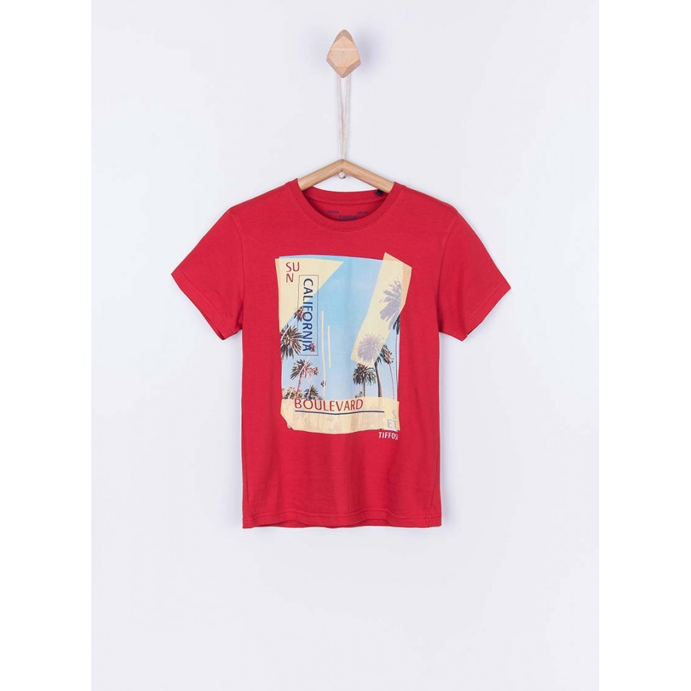 Camiseta Tiffosi Kids Dude niño junior manga corta California Boulevard
