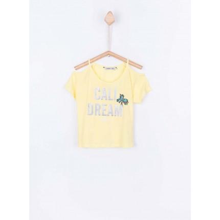 Camiseta Tiffosi Kids Maldevis niña junior hombros descubiertos 100% Algodón