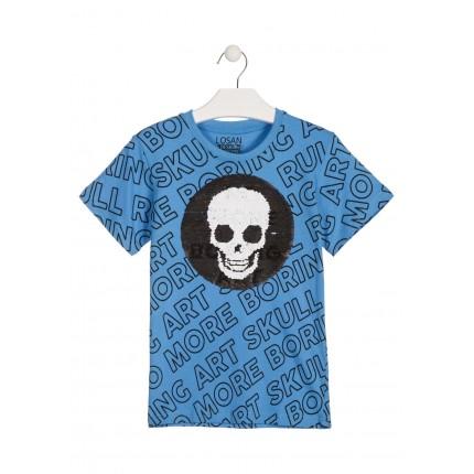 Camiseta Losan Boring Art niño junior manga corta