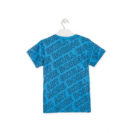 Espalda Camiseta Losan Boring Art niño junior manga corta