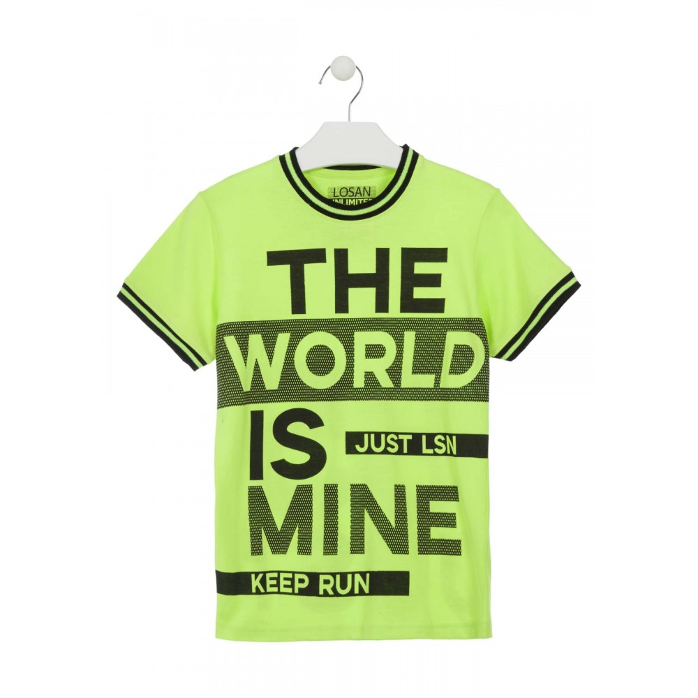 Camiseta Losan The World is Mine niño junior manga corta