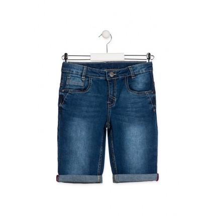 Bermuda Denim Losan niño junior cinco bolsillos básica Slim