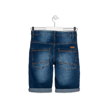 Parte trasera Bermuda Denim Losan niño junior cinco bolsillos básica Slim