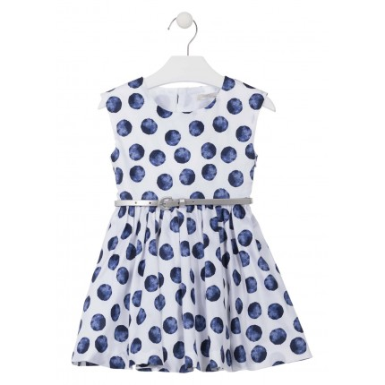 Vestido Losan Chic Collection Topos niña infantil