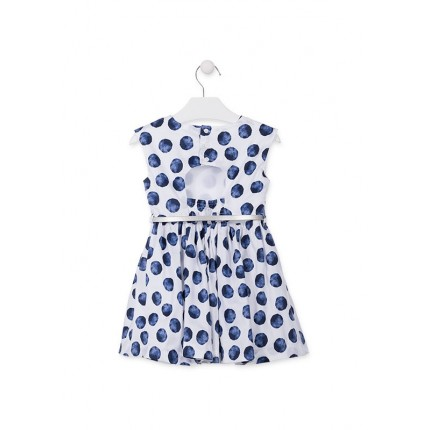 Espalda Vestido Losan Chic Collection Topos niña infantil