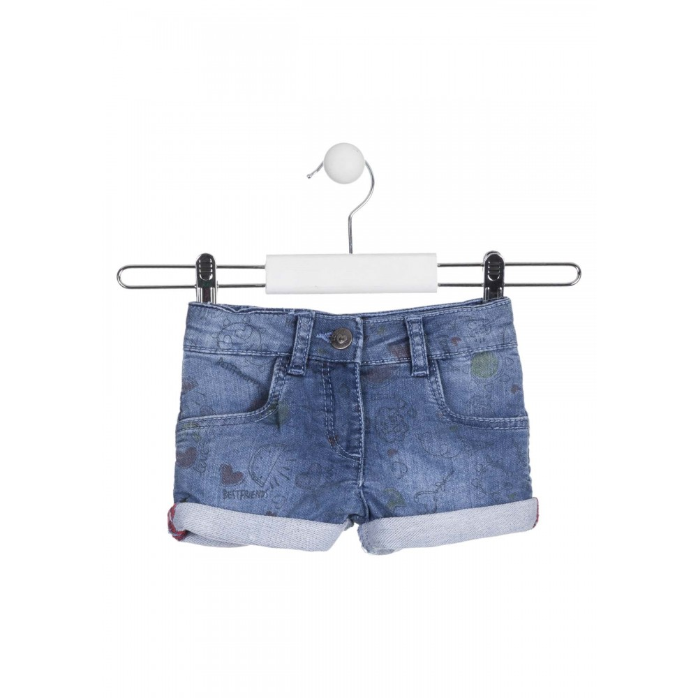 Short Denim Losan Kids Oh My God niña infantil Estampado