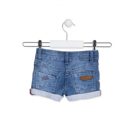 Parte trasera Short Denim Losan Kids Oh My God niña infantil Estampado