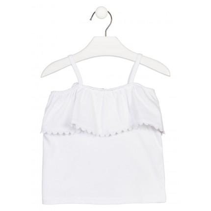 Camiseta Losan Kids niña infantil hombros descubiertos