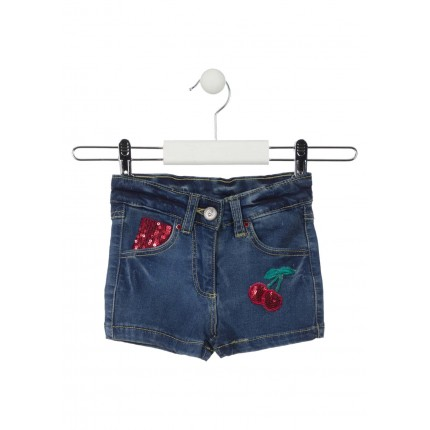 Short Denim Losan Kids Candy niña infantil