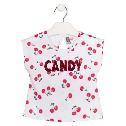 Camiseta Losan Kids  Candy niña infantil manga corta