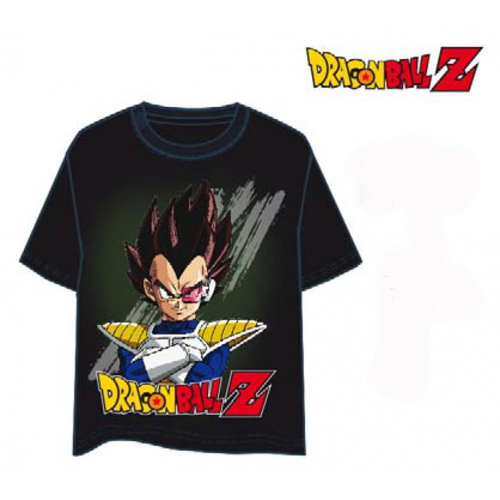 Camiseta Dragon Ball Z Vegeta Súper Guerrero Adulto manga corta