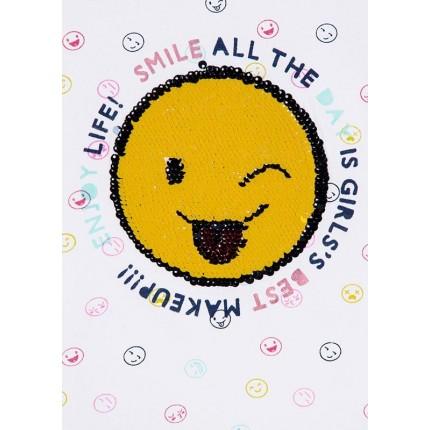 Detalle lentejuelas Camiseta Losan Smile niña junior manga corta