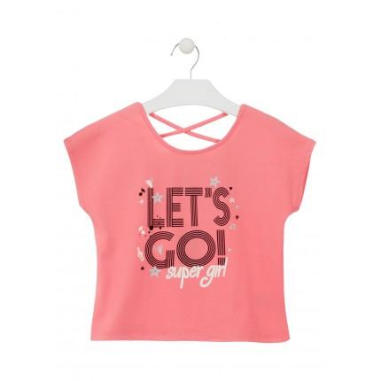Camiseta Losan Let's Go! niña junior manga corta
