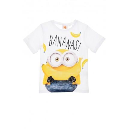 Camiseta Minions Bananas! niño manga corta