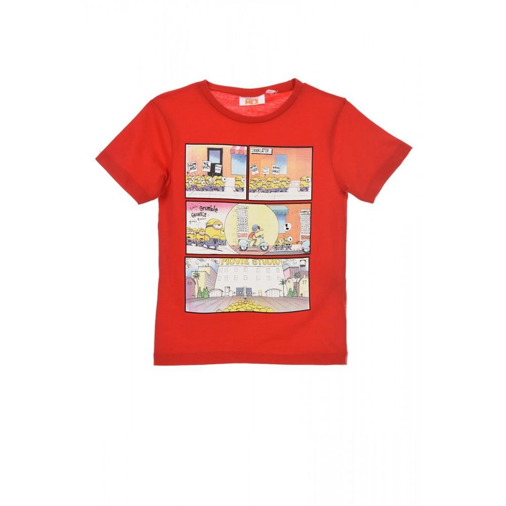 Camiseta Minions Pizza! niño manga corta