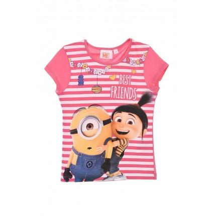 Camiseta Minions Best Friends niña infantil manga corta