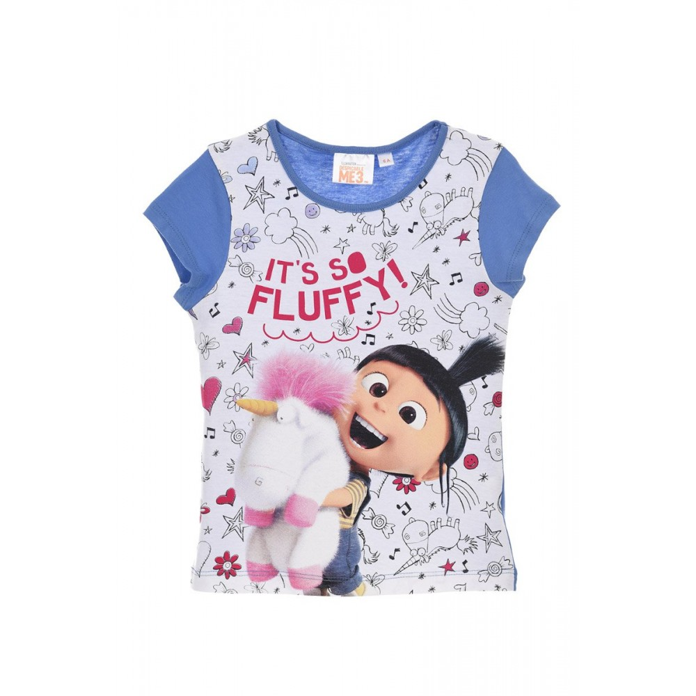 Camiseta Minions It's so Fluffy! niña infantil manga corta
