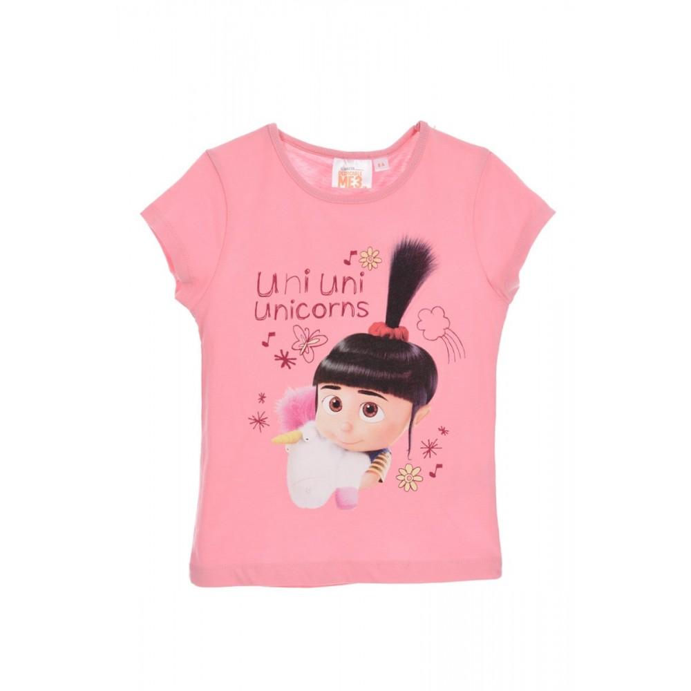 Camiseta Minions Unicors niña infantil manga corta